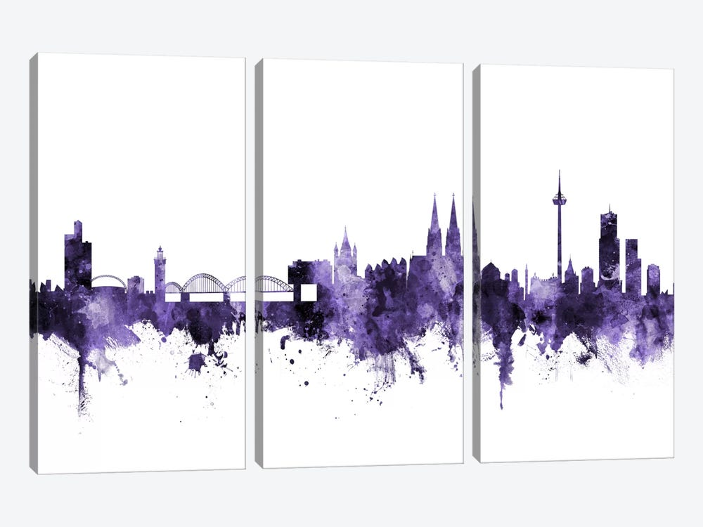 Cologne, Germany Skyline by Michael Tompsett 3-piece Canvas Art