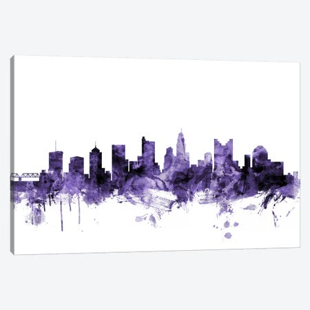 Columbus, Ohio Skyline Canvas Print #MTO573} by Michael Tompsett Art Print