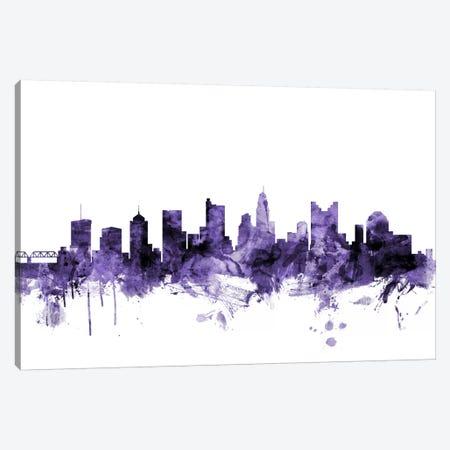 Columbus, Ohio Skyline Canvas Print #MTO573} by Michael Tompsett Art Print