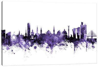 Copenhagen, Denmark Skyline Canvas Art Print
