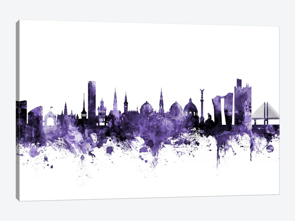 Copenhagen, Denmark Skyline by Michael Tompsett 1-piece Canvas Art