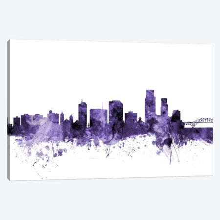 Corpus Christie, Texas Skyline Canvas Print #MTO575} by Michael Tompsett Canvas Wall Art