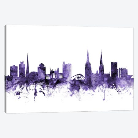 Coventry, England Skyline Canvas Print #MTO576} by Michael Tompsett Canvas Wall Art