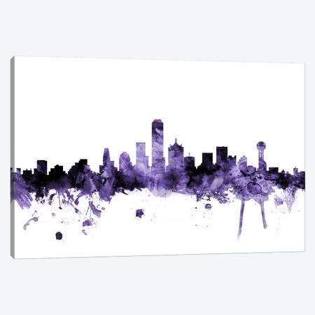 Dallas, Texas Skyline Canvas Print #MTO577} by Michael Tompsett Canvas Wall Art