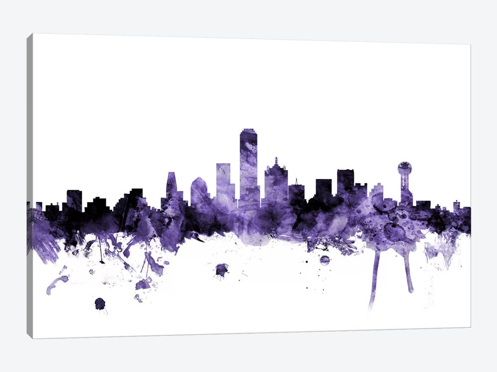 Dallas, Texas Skyline by Michael Tompsett 1-piece Art Print