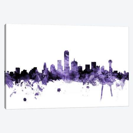 Dallas, Texas Skyline Canvas Print #MTO577} by Michael Tompsett Canvas Wall Art