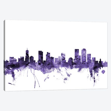Denver, Colorado Skyline Canvas Print #MTO578} by Michael Tompsett Canvas Art Print