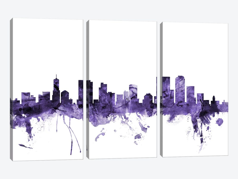 Denver, Colorado Skyline by Michael Tompsett 3-piece Canvas Art