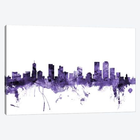 Denver, Colorado Skyline Canvas Print #MTO578} by Michael Tompsett Canvas Art Print