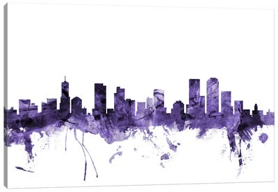 Denver, Colorado Skyline Canvas Art Print