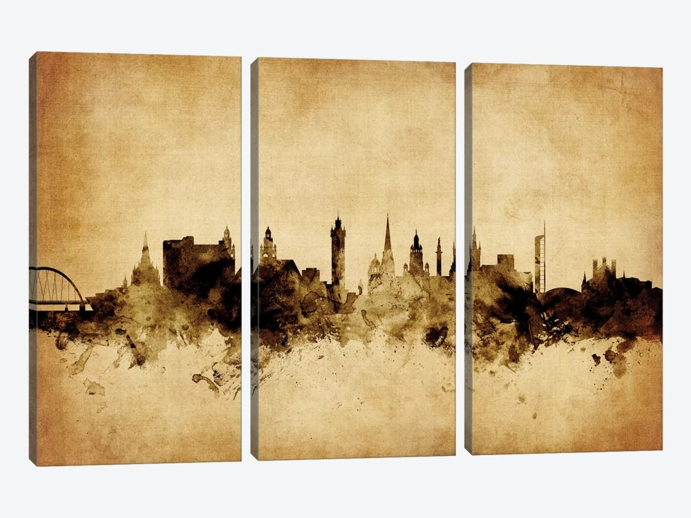Glasgow, Scotland, United Kingdom by Michael Tompsett 3-piece Art Print