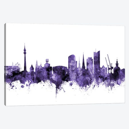 Dortmund, Germany Skyline Canvas Print #MTO582} by Michael Tompsett Canvas Artwork