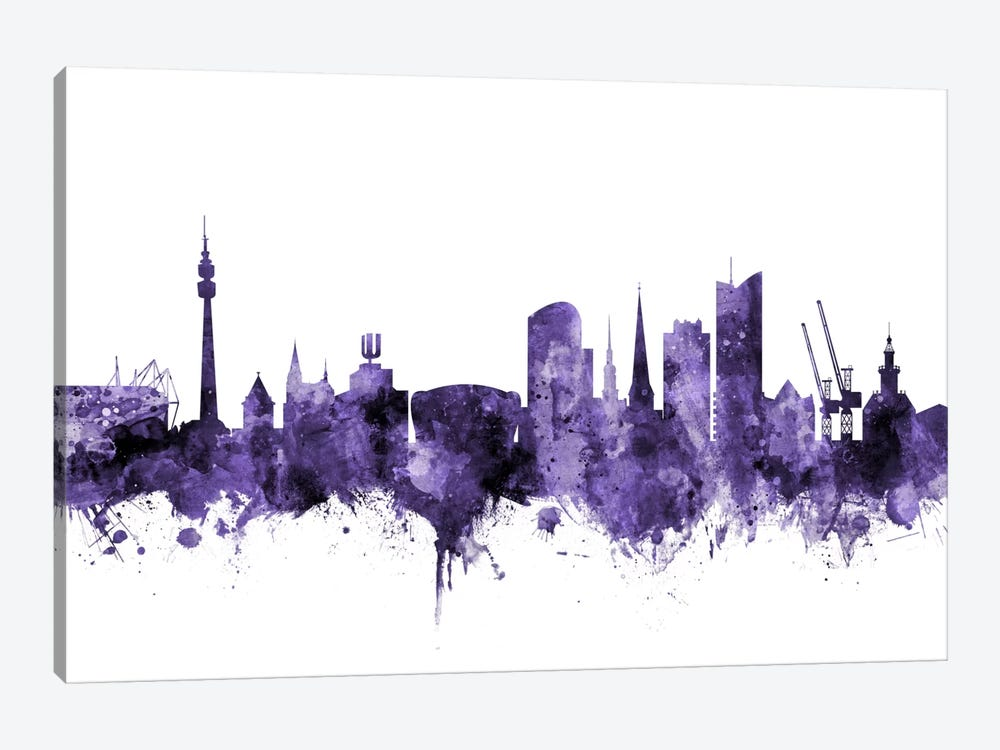 Dortmund, Germany Skyline 1-piece Canvas Art Print