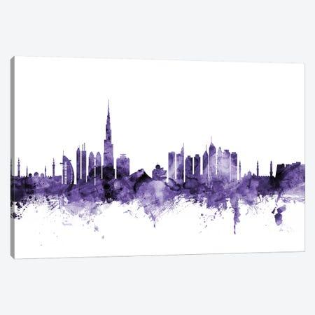 Dubai, UAE Skyline Canvas Print #MTO584} by Michael Tompsett Art Print