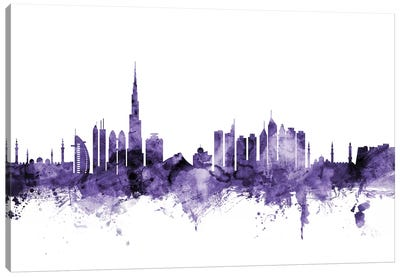 Dubai, UAE Skyline Canvas Art Print
