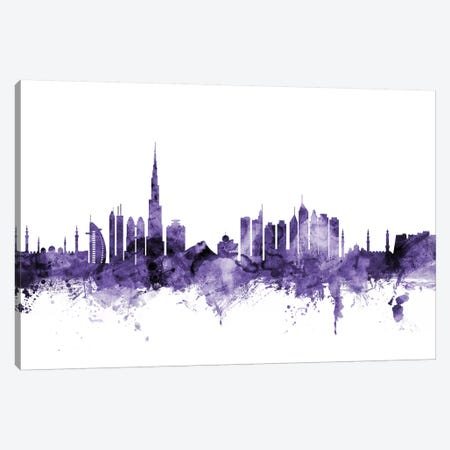 Dubai, UAE Skyline 3-Piece Canvas #MTO584} by Michael Tompsett Art Print