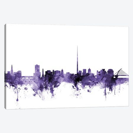 Dublin, Ireland Skyline 3-Piece Canvas #MTO585} by Michael Tompsett Canvas Print