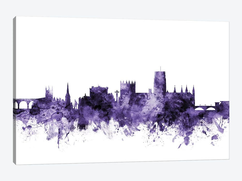 Durham, England Skyline by Michael Tompsett 1-piece Canvas Print