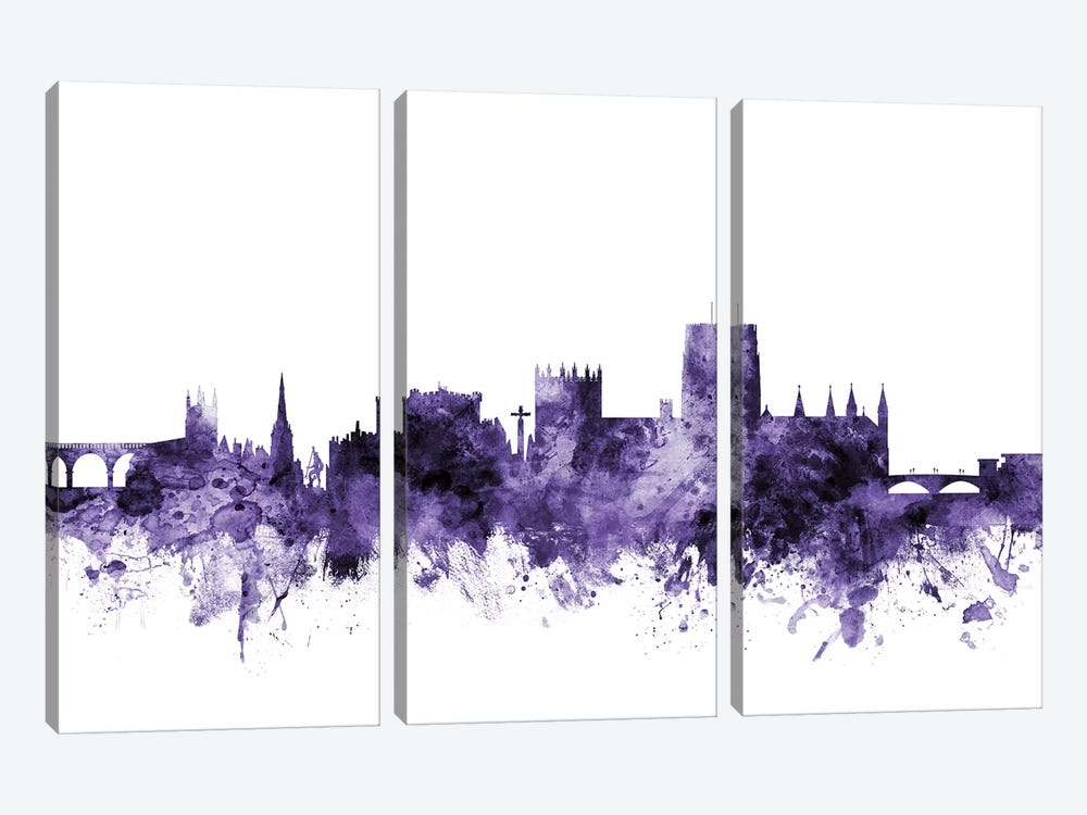 Durham, England Skyline by Michael Tompsett 3-piece Canvas Art Print