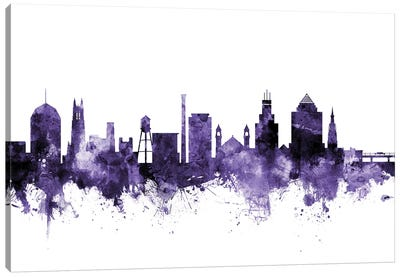 Durham, North Carolina Skyline Canvas Art Print