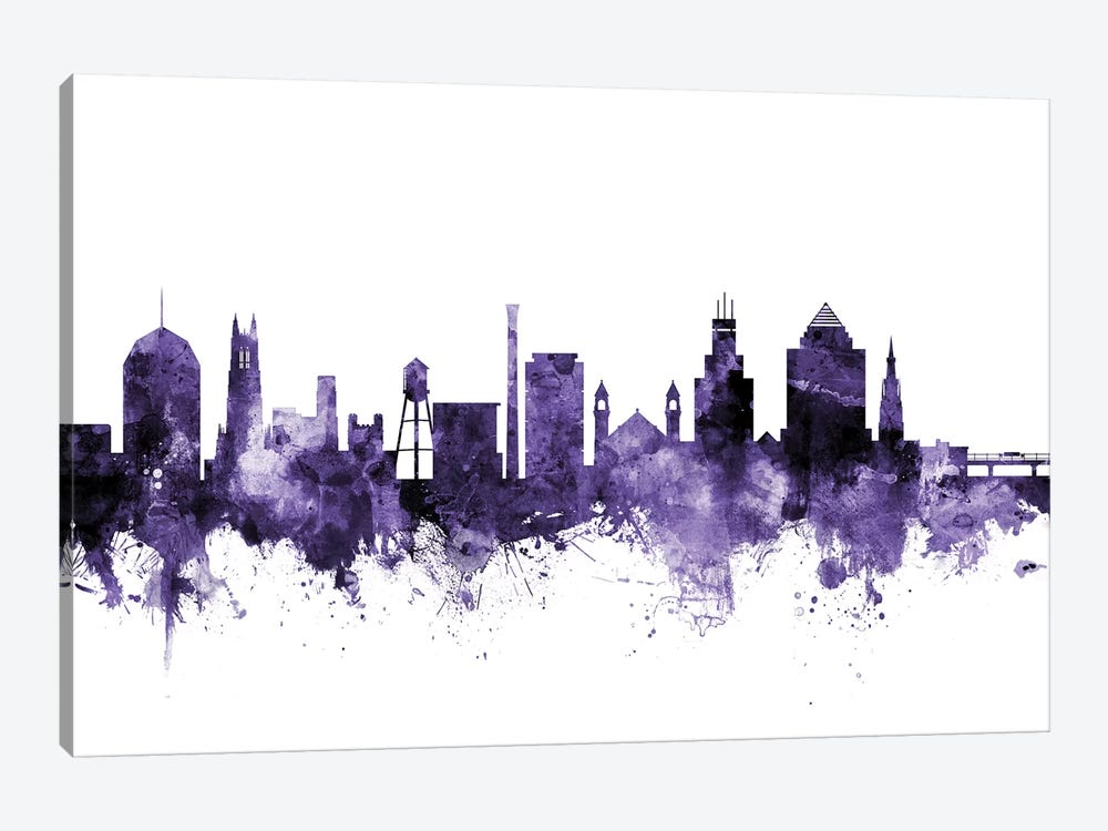 Durham, North Carolina Skyline 1-piece Canvas Art