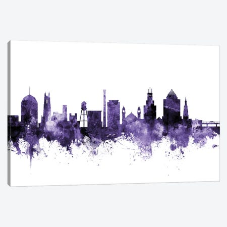 Durham, North Carolina Skyline Canvas Print #MTO587} by Michael Tompsett Canvas Print