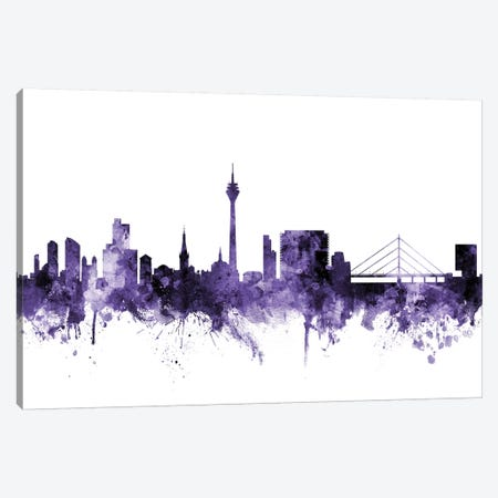Düsseldorf, Germany Skyline Canvas Print #MTO588} by Michael Tompsett Canvas Artwork