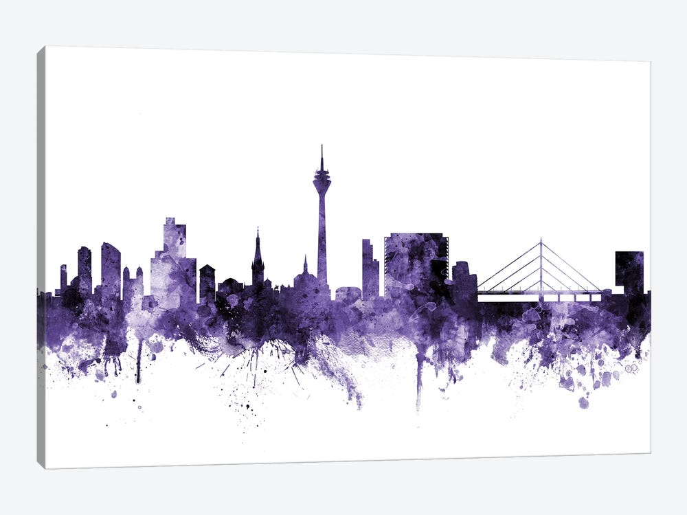 Düsseldorf, Germany Skyline by Michael Tompsett 1-piece Canvas Art Print
