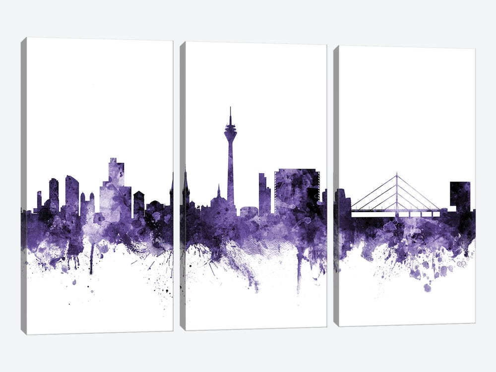 Düsseldorf, Germany Skyline by Michael Tompsett 3-piece Art Print