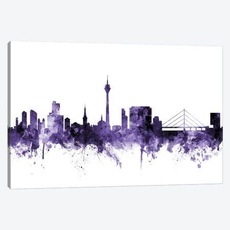 Düsseldorf, Germany Skyline Canvas Print #MTO588} by Michael Tompsett Canvas Artwork