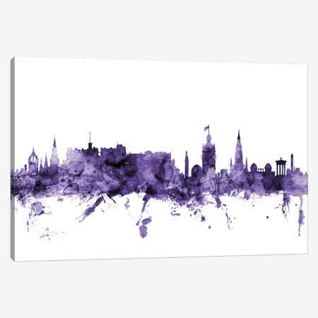 Edinburgh, Scotland Skyline Canvas Print #MTO589} by Michael Tompsett Canvas Art