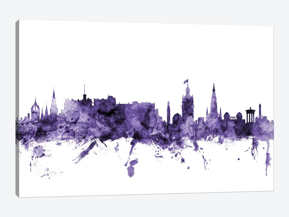 Edinburgh, Scotland Skyline by Michael Tompsett 1-piece Canvas Artwork