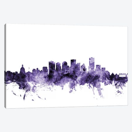 Edmonton, Canada Skyline Canvas Print #MTO590} by Michael Tompsett Canvas Print