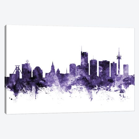 Essen, Germany Skyline Canvas Print #MTO592} by Michael Tompsett Art Print