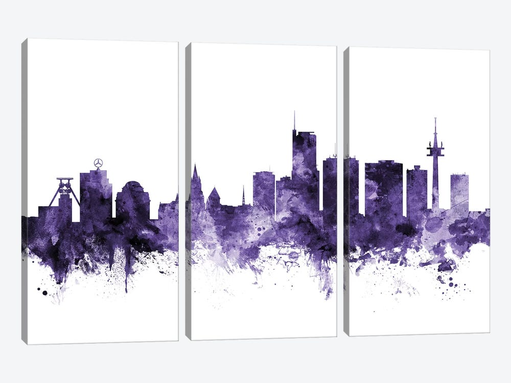 Essen, Germany Skyline 3-piece Canvas Art