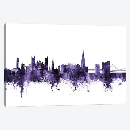 Exeter, England Skyline Canvas Print #MTO593} by Michael Tompsett Art Print