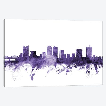 Fort Worth, Texas Skyline Canvas Print #MTO596} by Michael Tompsett Canvas Art