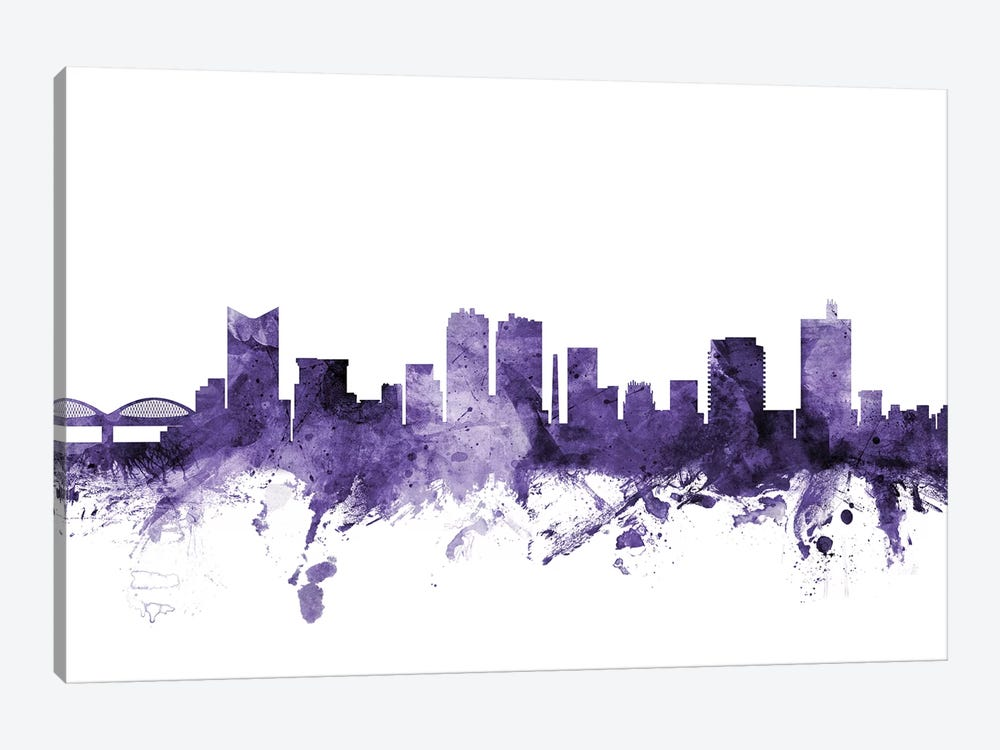 Fort Worth, Texas Skyline 1-piece Canvas Wall Art