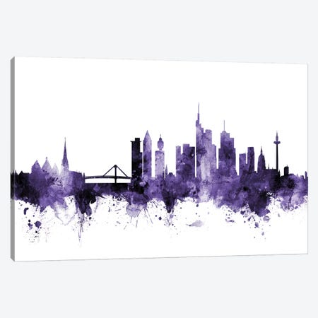 Frankfurt, Germany Skyline Canvas Print #MTO597} by Michael Tompsett Canvas Art