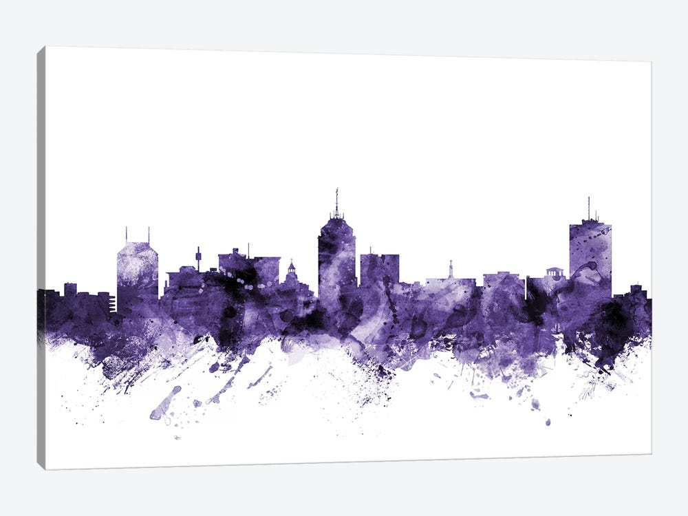 Fresno, California Skyline by Michael Tompsett 1-piece Canvas Artwork