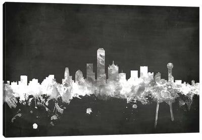 Blackboard Skyline Series: Dallas, Texas, USA Canvas Print #MTO5