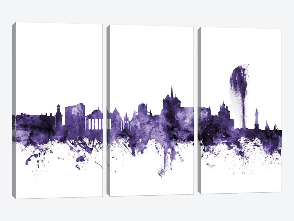Geneva, Switzerland Skyline by Michael Tompsett 3-piece Art Print