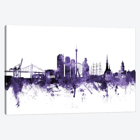 Gothenburg, Sweden Skyline Canvas Print #MTO602} by Michael Tompsett Canvas Print