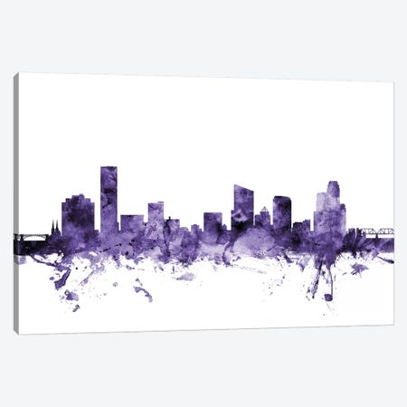 Grand Rapids, Michigan Skyline Canvas Print #MTO603} by Michael Tompsett Canvas Print