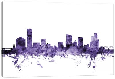 Grand Rapids, Michigan Skyline Canvas Art Print