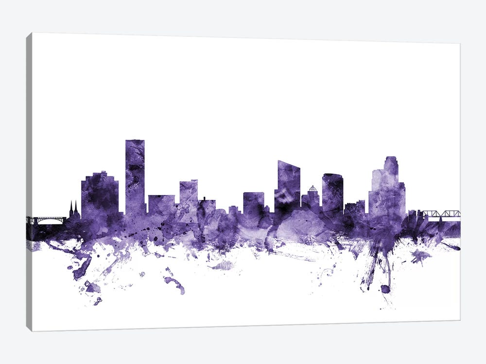 Grand Rapids, Michigan Skyline by Michael Tompsett 1-piece Canvas Wall Art