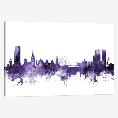 Halmstad, Sweden Skyline Canvas Print #MTO604} by Michael Tompsett Canvas Wall Art