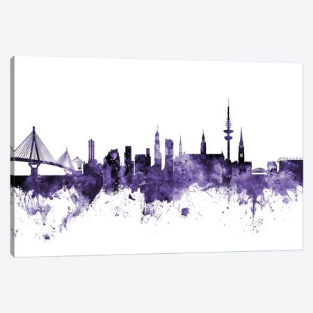 Hamburg, Germany Skyline Canvas Print #MTO605} by Michael Tompsett Canvas Artwork