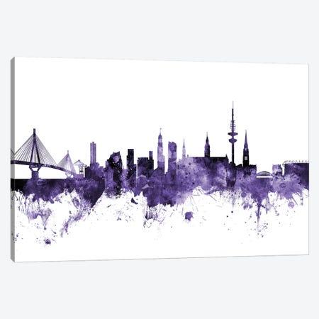 Hamburg, Germany Skyline Canvas Print #MTO605} by Michael Tompsett Canvas Artwork