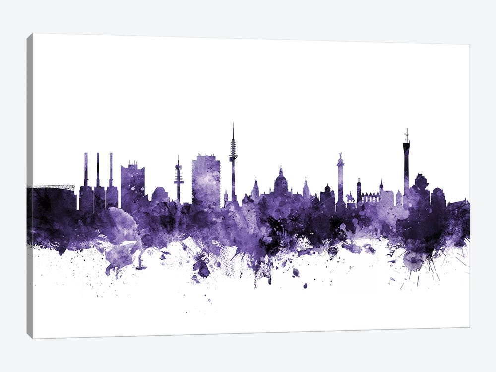 Hannover, Germany Skyline by Michael Tompsett 1-piece Art Print